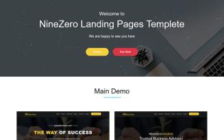 NineZero - Finance & Business HTML5 Template Landing Page Template