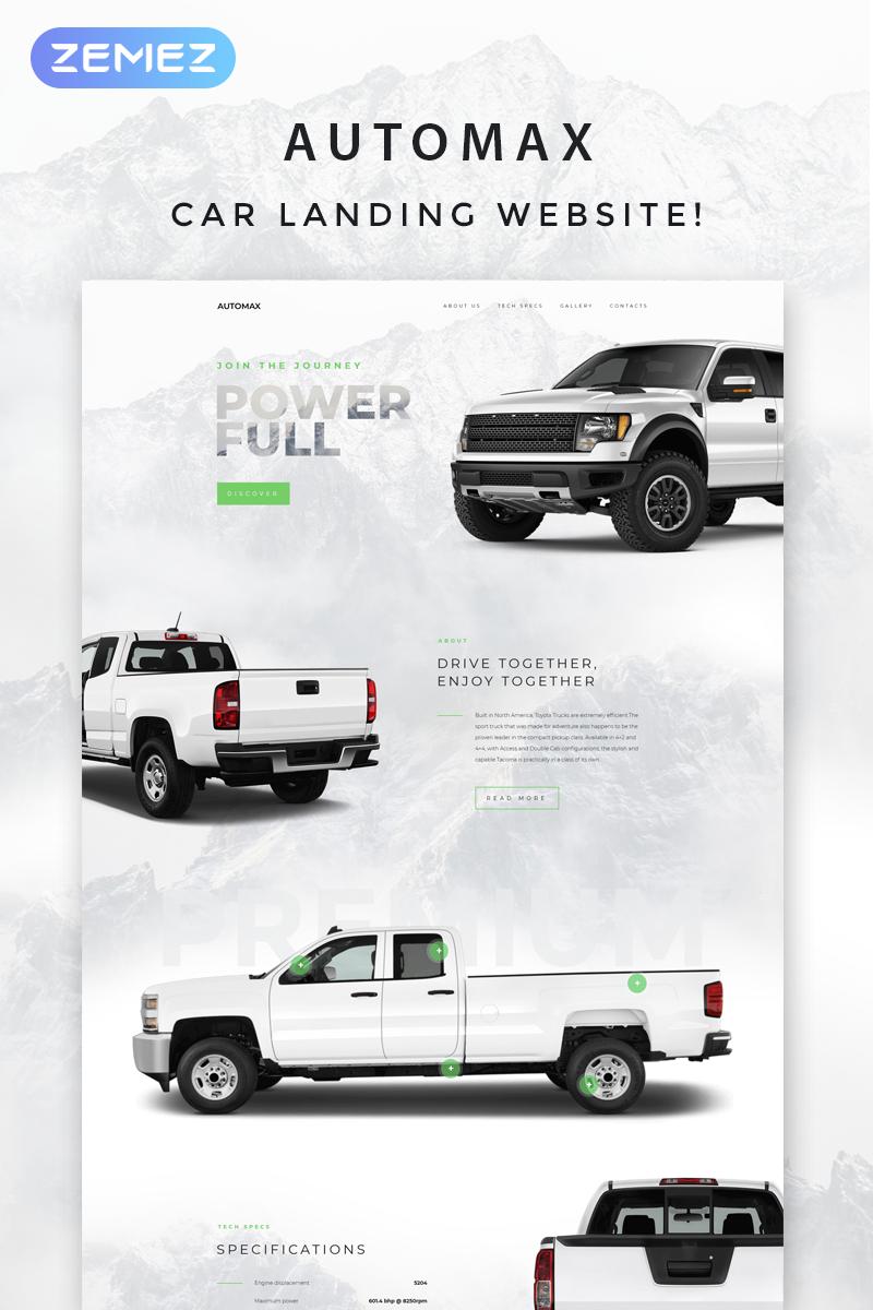 """Automax - Car Landing Responsive Elementor"" - адаптивний WordPress шаблон №71429"