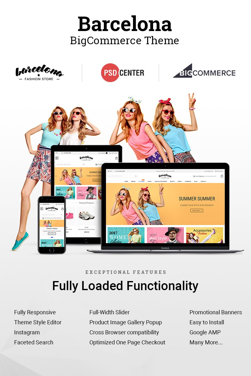 """Barcelona"" 响应式BigCommerce Theme #71427"
