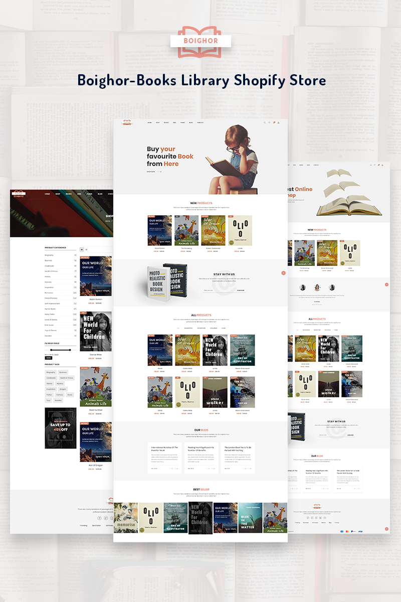 Boighor - Books Library Shopify Theme