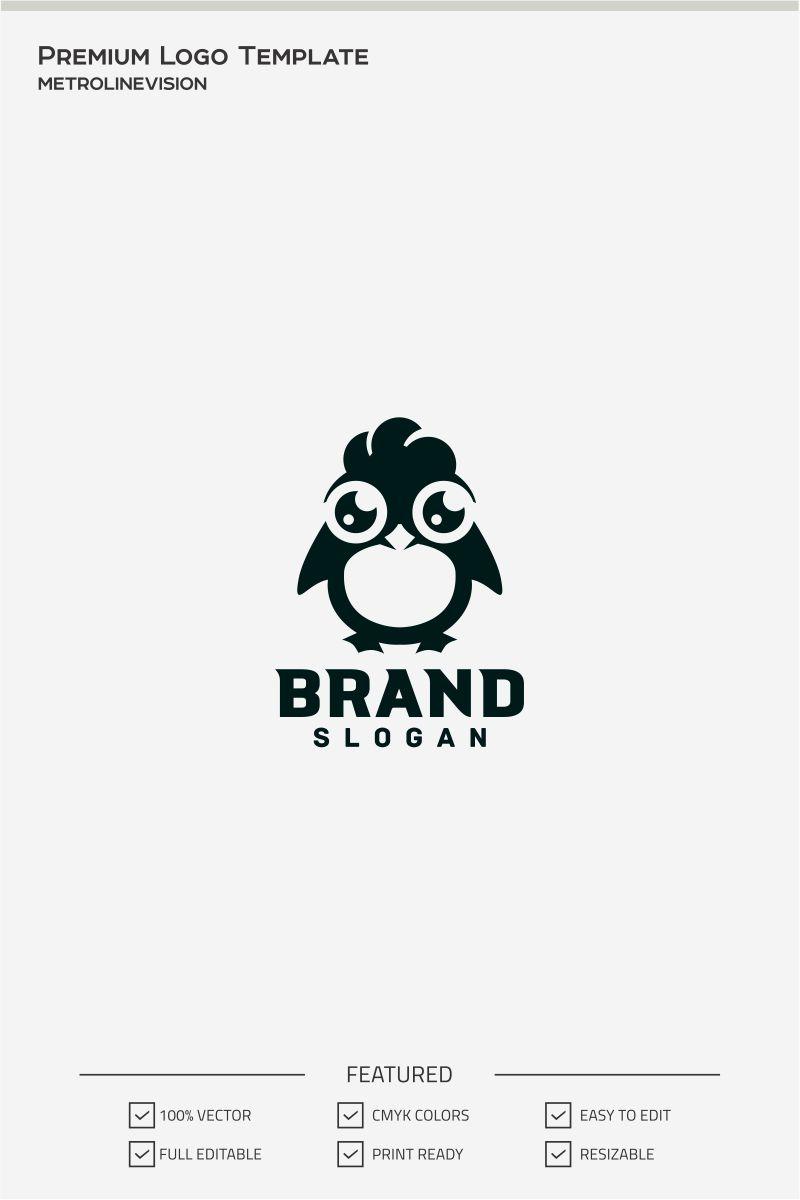 Cute Penguin Conjunto de Logotipo №71403