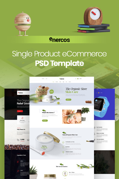 Enercos - Single Product eCommerce PSD Template #71456