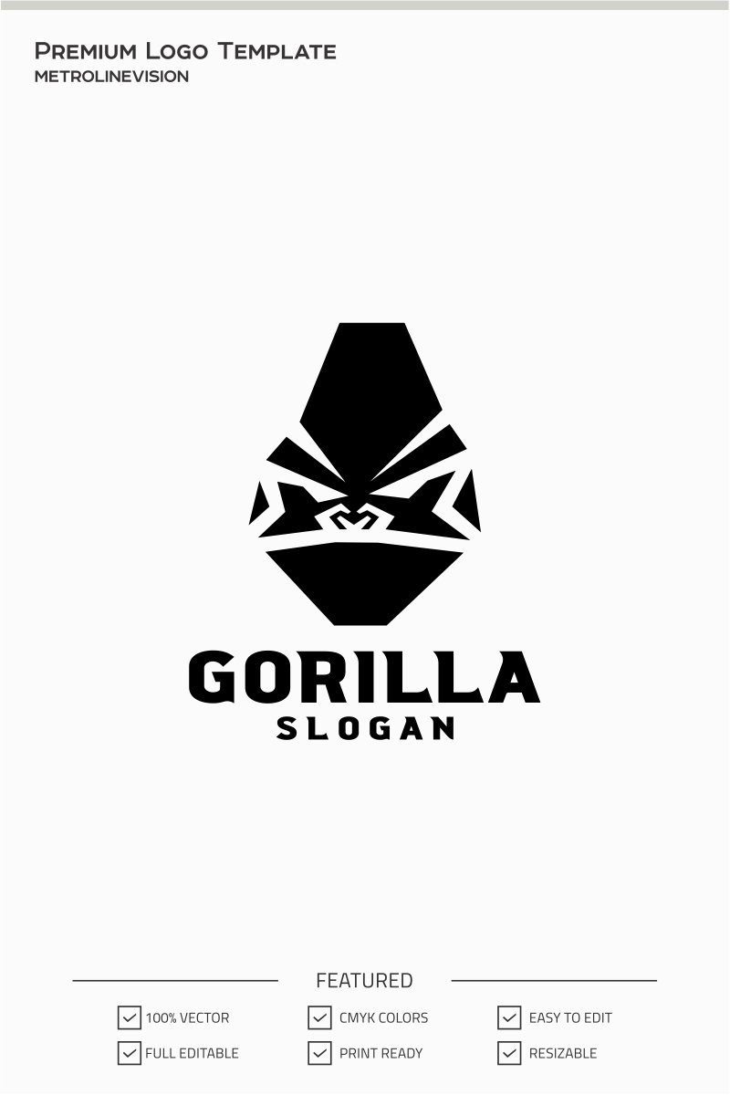 gorilla head logo template  71400