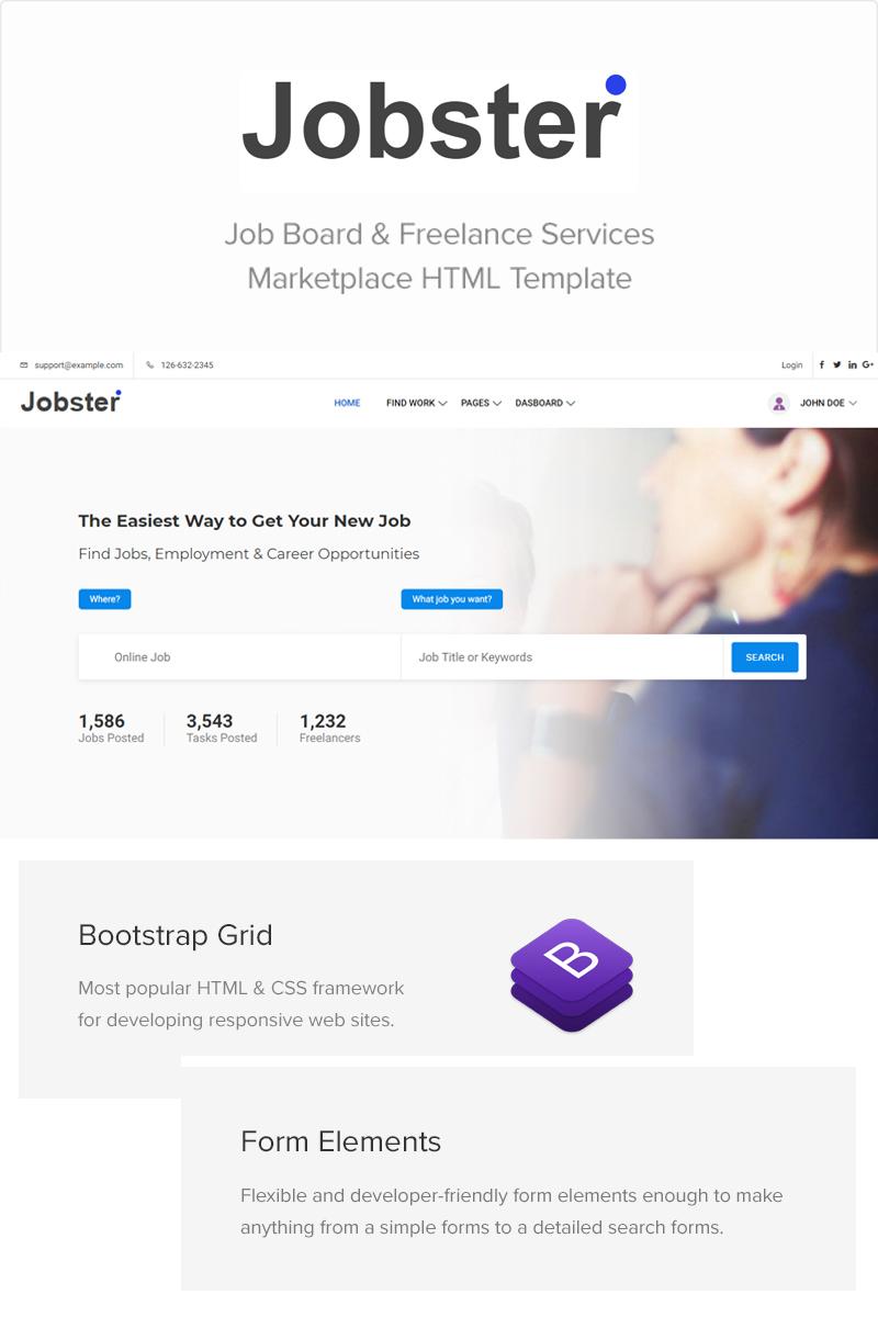 jobster job board bootstrap website template 71496