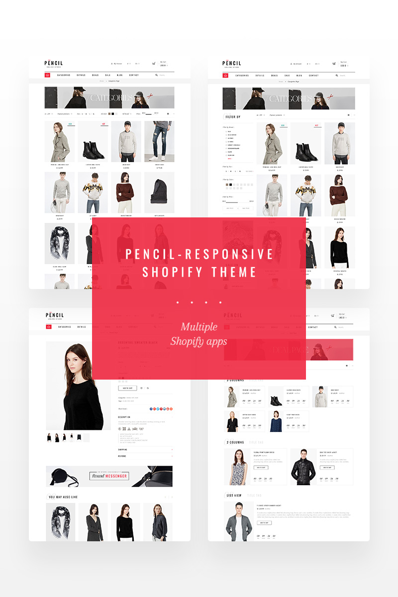 Pencil - Fashion Shop Shopify Theme - screenshot