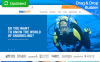 "Responzivní MotoCMS Ecommerce šablona ""DiveDeep - Snorkeling Gear Store"" New Screenshots BIG"