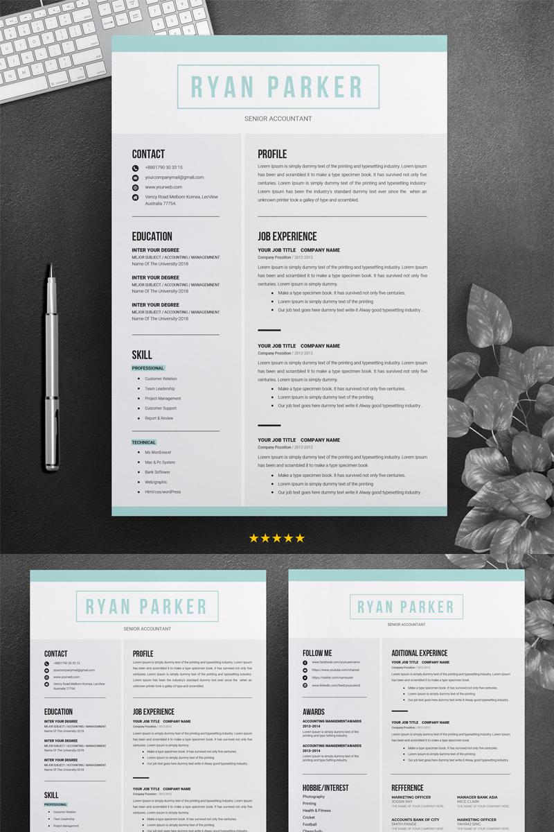 ryan parker professional resume template  71464
