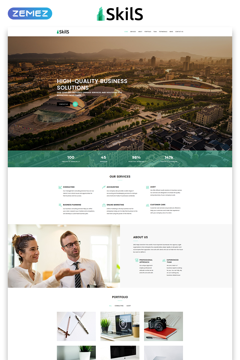 Skils - Business Services HTML Landing Page Template - screenshot