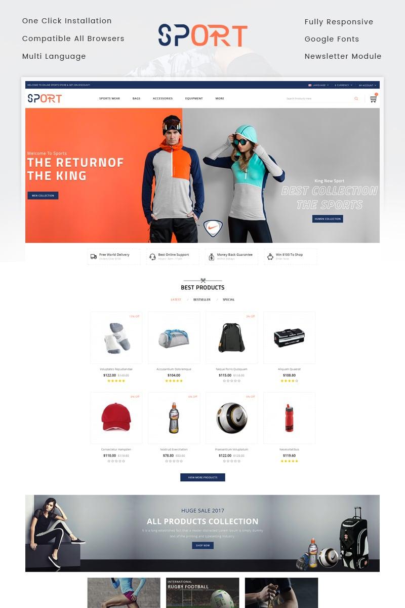 """Sports Store"" - адаптивний OpenCart шаблон №71419"