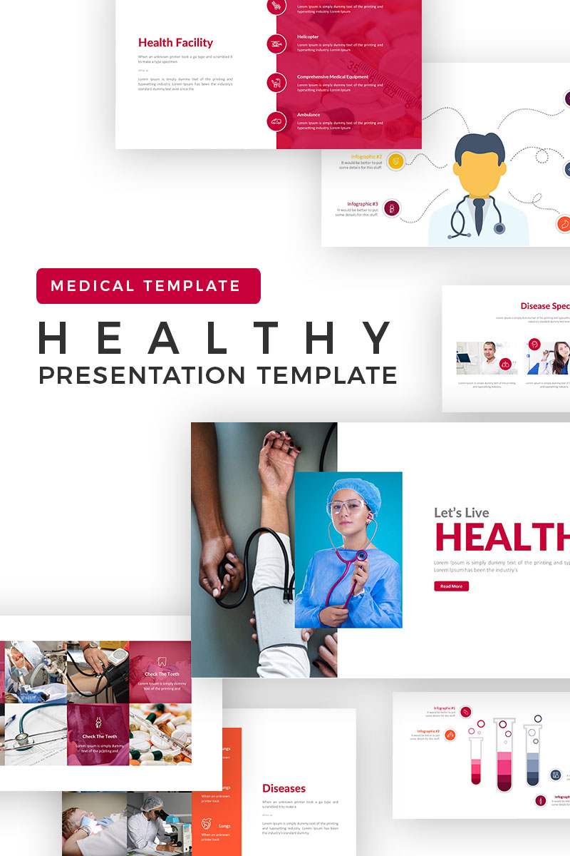 Szablon PowerPoint Healthcare Presentation #71420