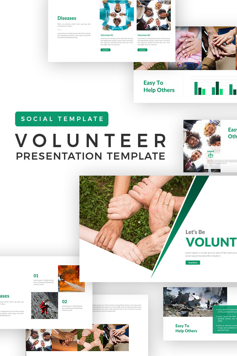 volunteer presentation powerpoint template  71493