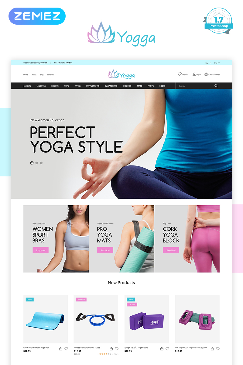 Yogga - Sports Shop PrestaShop Theme
