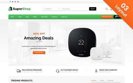 Super Shop - Multi Purpose Store WooCommerce Theme