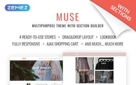 Muse Jewellery Fashion Responsive Shopify Theme