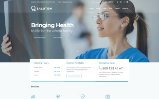 Salutem - Medical and Healthcare Clean Joomla Template