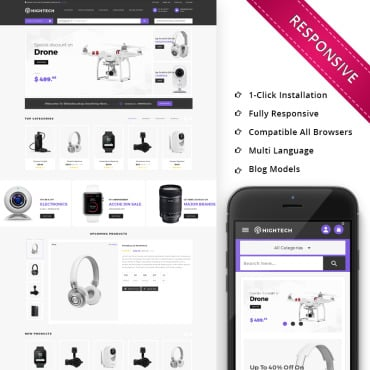 Preview image of HiTech Electronic - Responsive