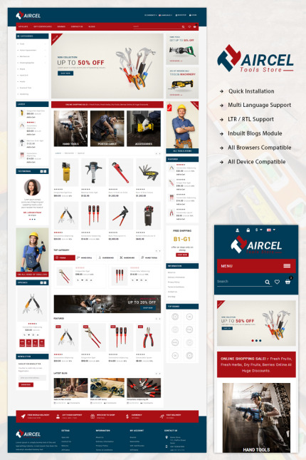Website Design Template 71522 - responsive opencart fashion bootstrap parallax blogs quickstart documentation templatemonster testimonials megamenu megashop slider tools autopart