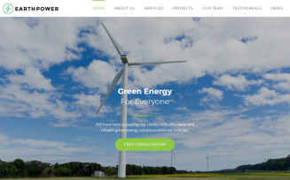 EarthPower - Green Energy HTML5 Landing Page Template