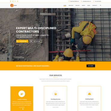 Preview image of Revo Construction Multi - Page Web