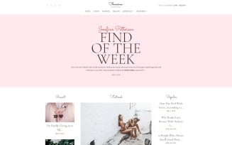 Feminine - Woman Blog WordPress Elementor Theme