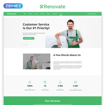 Preview image of Renovate - Repair Service HTML5