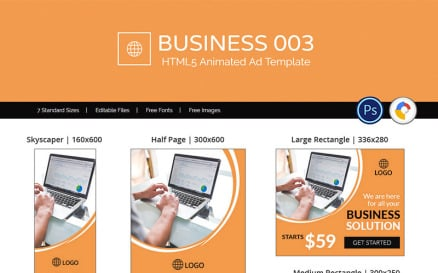 Business 003 HTML5 Ad Animated Banner