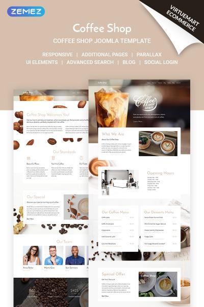 Coffee Shop - Coffe House Responsive Joomla Template #71517