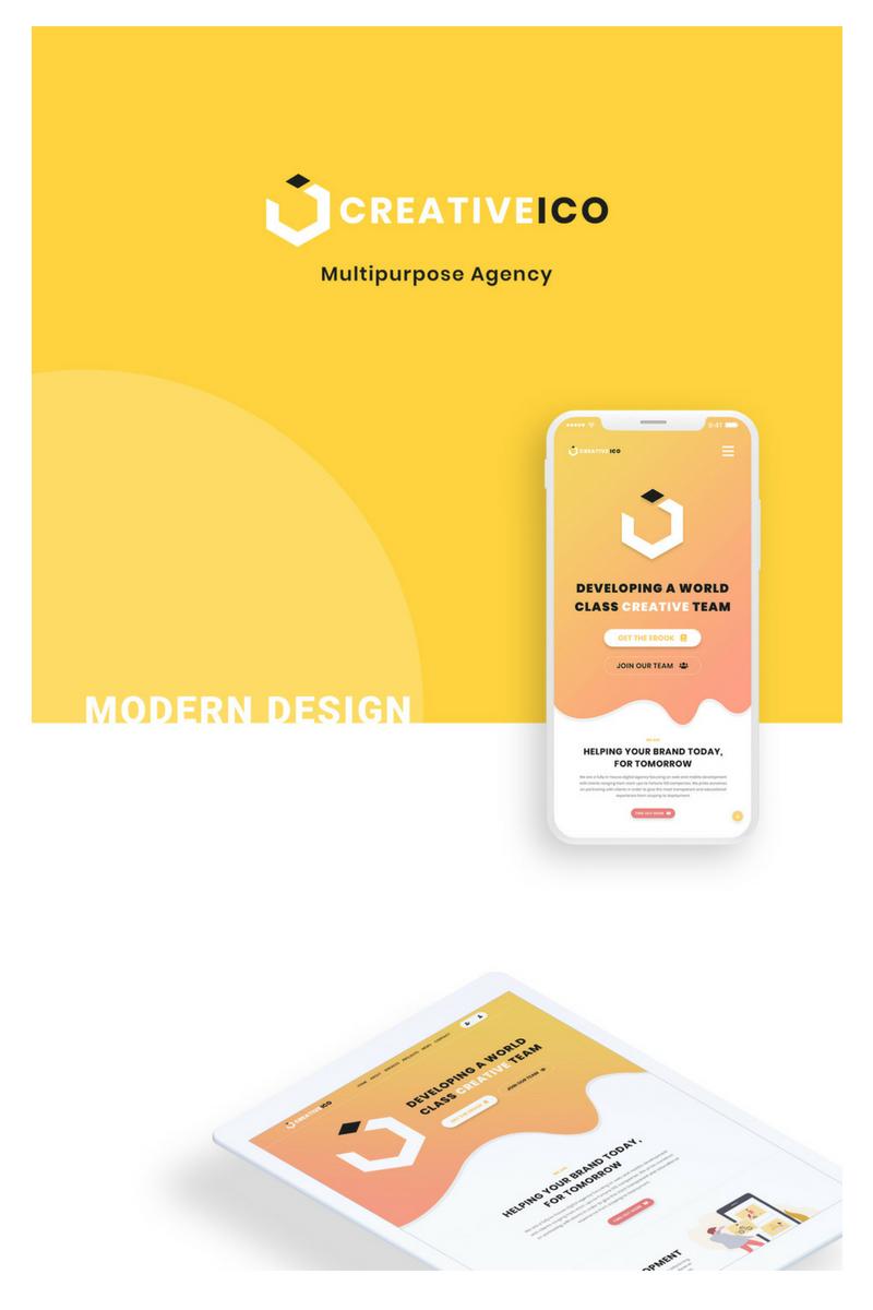 Creativeico - Website Multipurpose Creative Agency PSD Template #71597