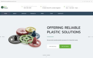 Eco Plast - Plastic Solutions HTML5 Landing Page Template