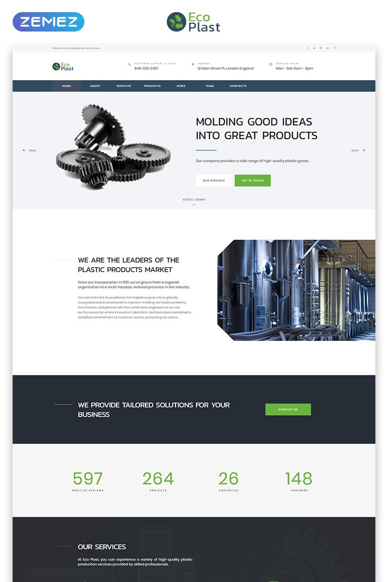 Eco Plast - Plastic Solutions HTML5 №71569