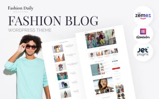 Fashion Daily - Fashion Blog WordPress Elementor Theme