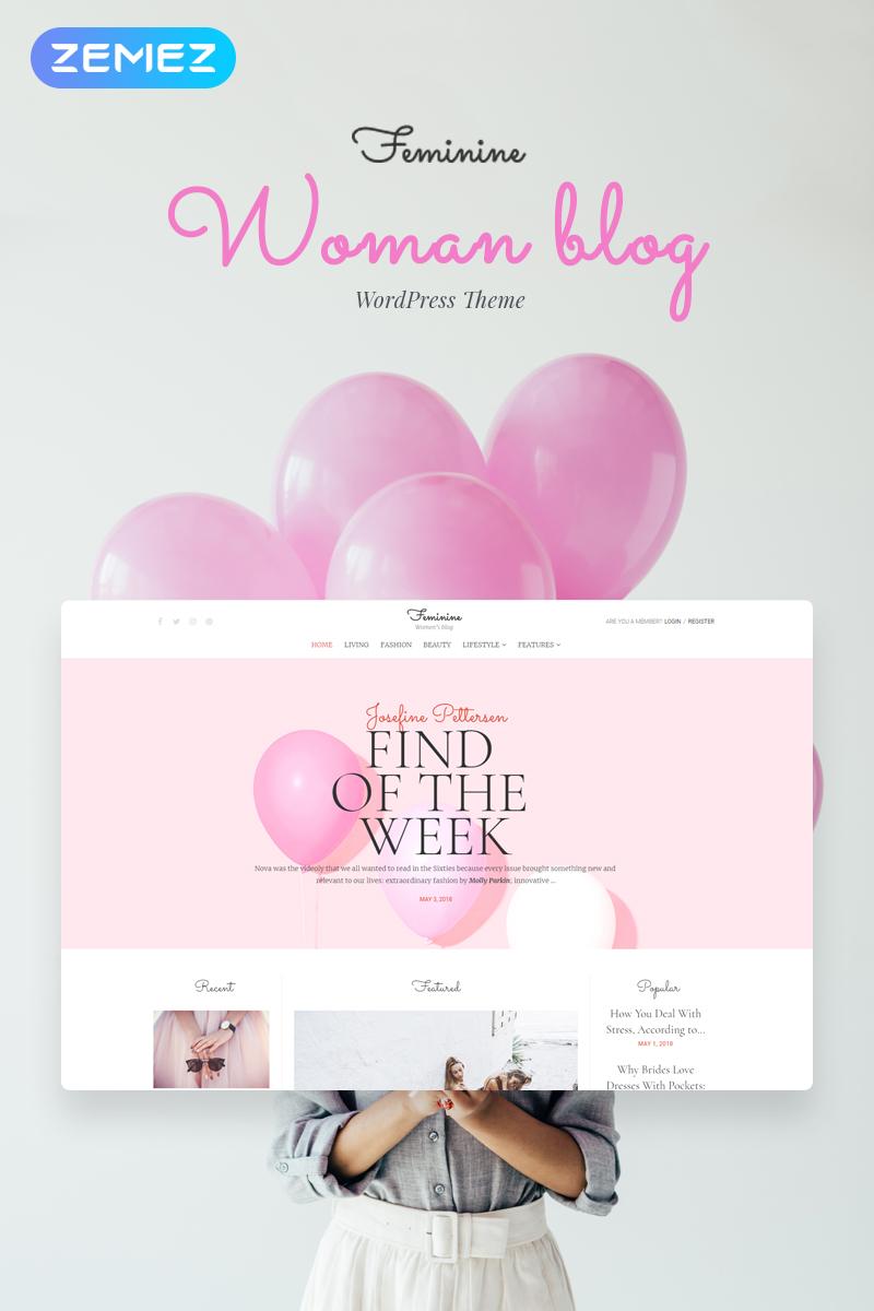 Feminine - Woman Blog Elementor Tema WordPress №71586