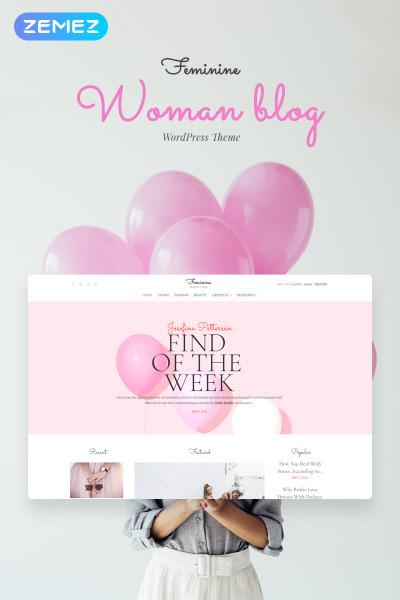 Feminine - Woman Blog Elementor