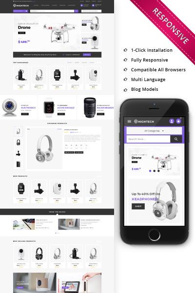 HiTech Electronic - Responsive PrestaShop Theme #71515