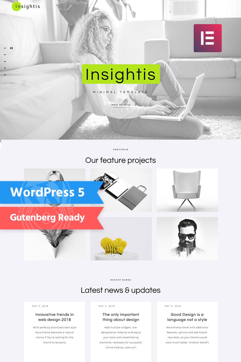 Insightis - Creative Minimal  Elementor №71572 - скриншот