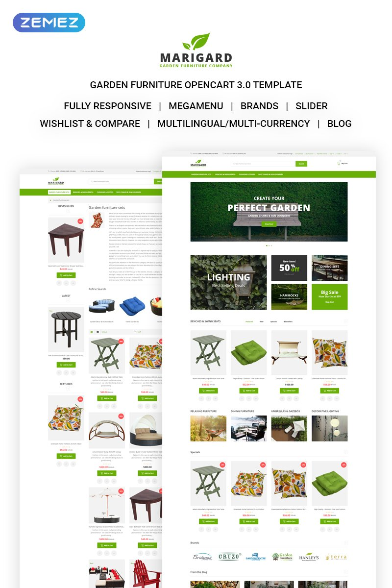 Marigard - Efficient Garden Furniture Online Shop OpenCart Template