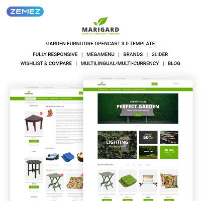 Responsive OpenCart Vorlage für Möbel