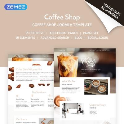 Responsive Plantilla Joomla #71517 para Sitio de  para Tienda de Café