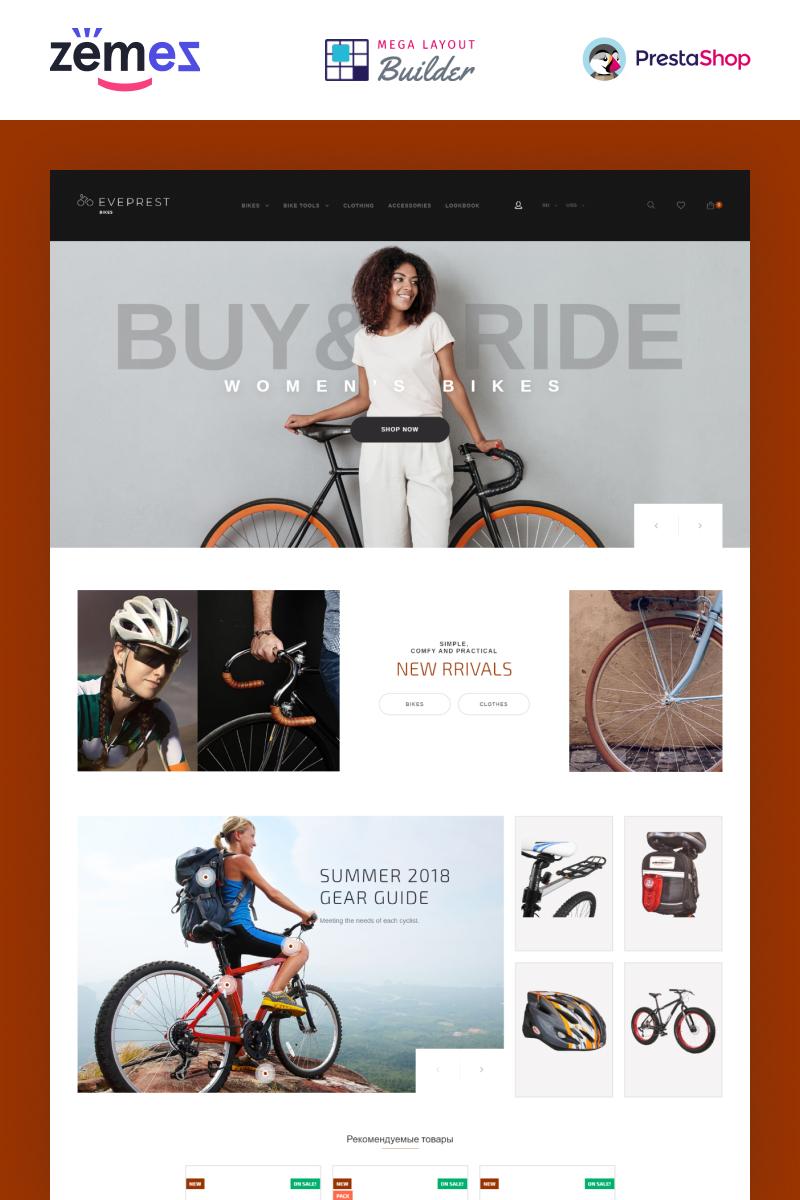 """PrestaShop Theme namens """"Eveprest Bike 1.7 - Bike Store"""" #71568"""