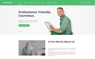 Renovate - Repair Service HTML5 Landing Page Template