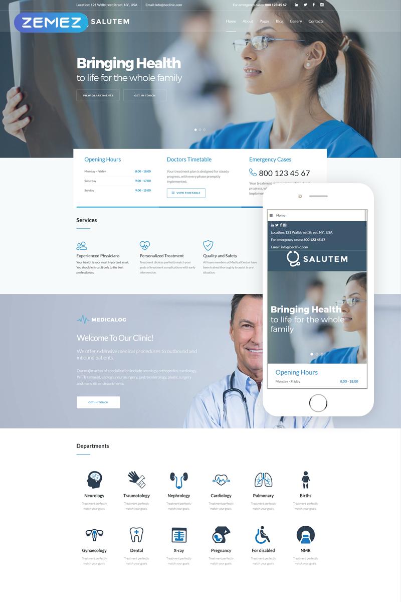 """Salutem - Medical and Healthcare Clean"" 响应式Joomla模板 #71513 - 截图"