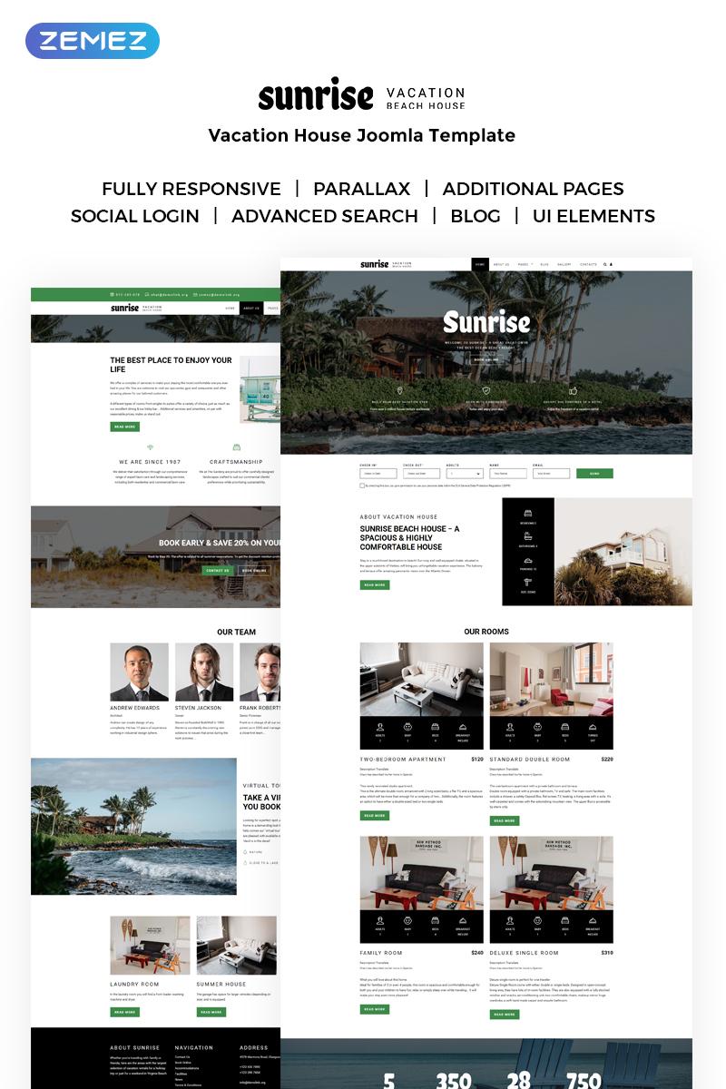Sunrise - Vacation House Joomla Template