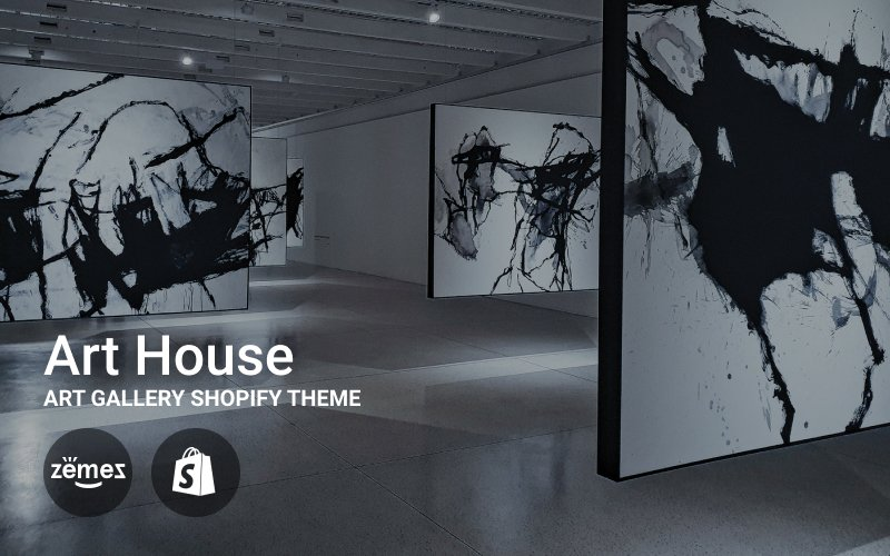 "Tema Shopify ""Art House - Art Gallery"" #71506"