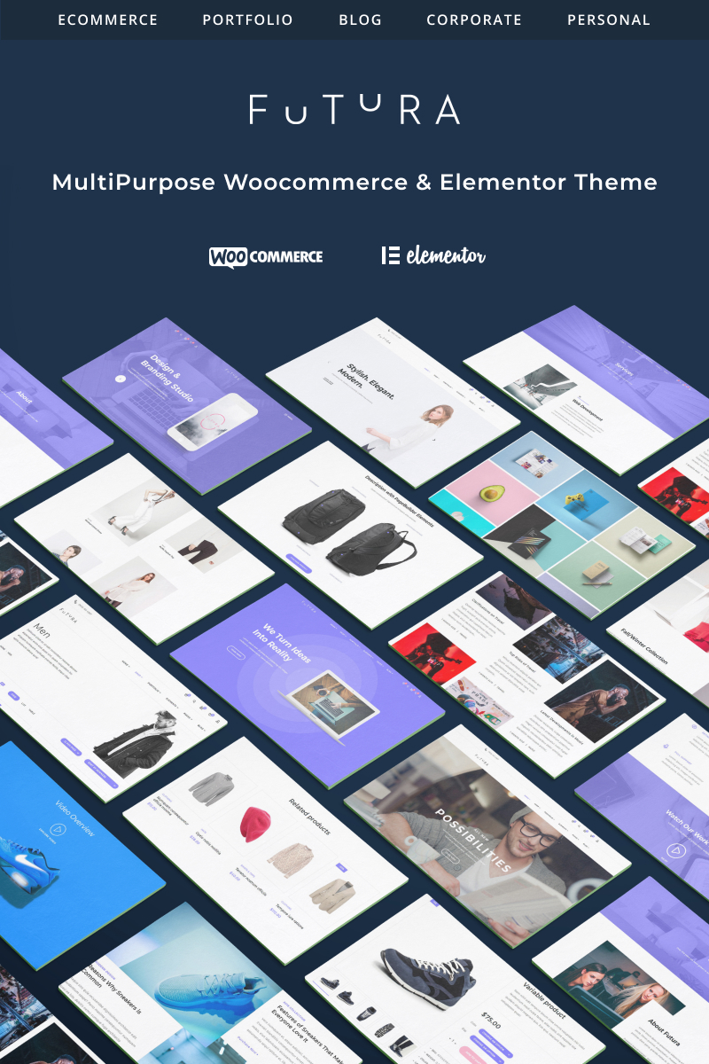 "Template WooCommerce Responsive #71554 ""Futura - MultiPurpose High-Perfomance Elementor &"""