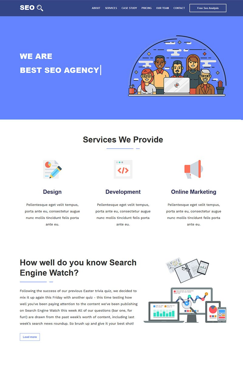 website template 71637 agency bootstrap cpa custom website template