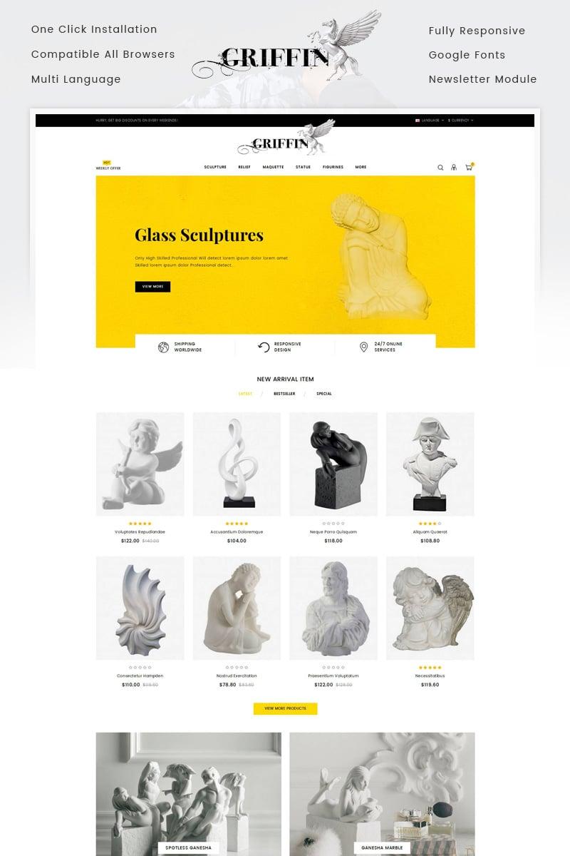Website Template 71642 Statue Art Craft Custom Website Template