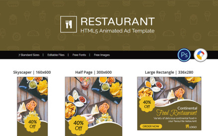 Food & Restaurant | Restaurant Ad Animated Banner