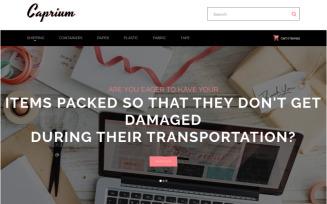 Caprium - Packaging Shop OpenCart Template