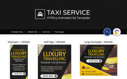 Tour & Travel | Taxi Service Booking Ad Animated Banner