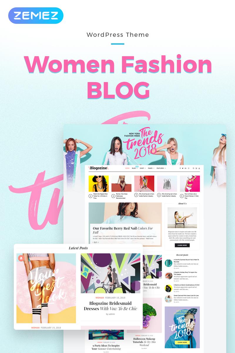 Blogozine - Fashion Elementor WordPress Theme